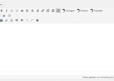 Editor mit integrierten Buttons